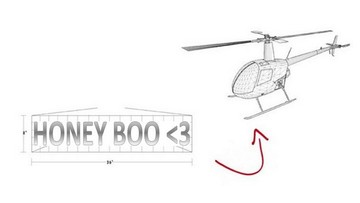 Creative Love Messages on Helicopter