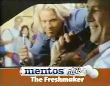 mentos television commercial is memorable